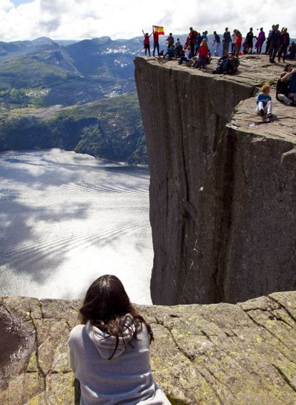 Vista de la Pulpit Rock en Stavanger