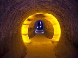 Interior del túnel de hielo
