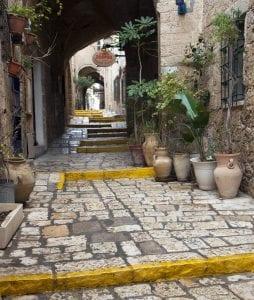 Detalle de una calle de Jaffa