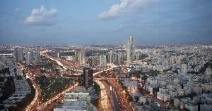 Panorámica nocturna de Tel Aviv