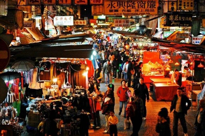 En Hong Kong hay mercadillos nocturnos
