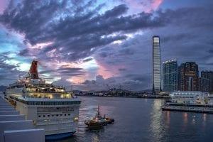 Crucero de escala en Hong Kong