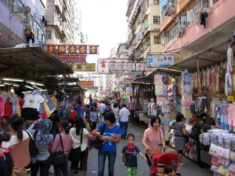 En Hong Kong siempre hay gente de compras