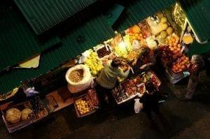 Puesto de comida en Graham Street