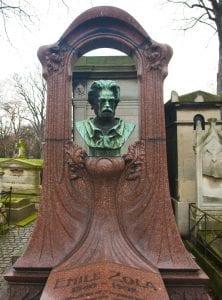 Tumba de Emilio Zola ene l cementerio de Montmartre