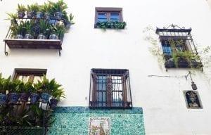 Detalle de una fachada en el Sacromonte