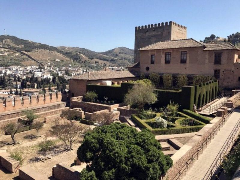 Patio de Machuca, en la Alhambra