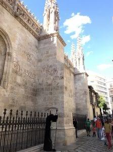 Fachada lateral de la catedral de Granada