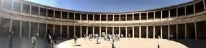 El acceso al palacio de carlos V es libre y gratuito