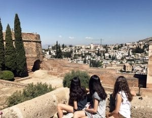 Vistas del Albaicín dese la Alhambra