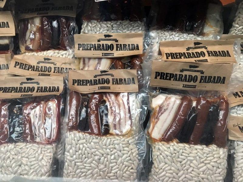 Preparado para fabada, compra típica en Asturias