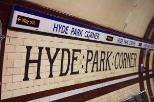 A Hyde Park Corner se puede llegar en metro