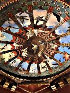 Detalle de la decoración interior de la casa Vicens