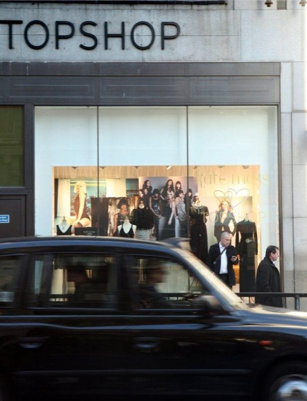 Top Shop, una de las grandes tiendas de Oxford street