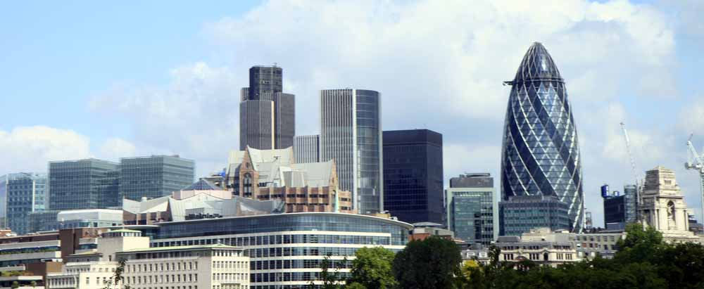 Panorámica de la city, la zona de empresas de Londres