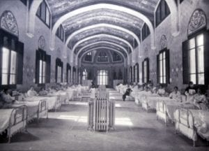 Foto de archivo del hospital en sus orígenes