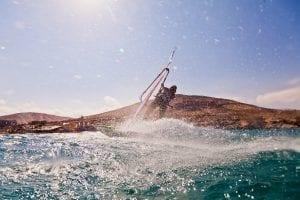 En Fuerteventrua siempre hace viento para hacer surf o wind