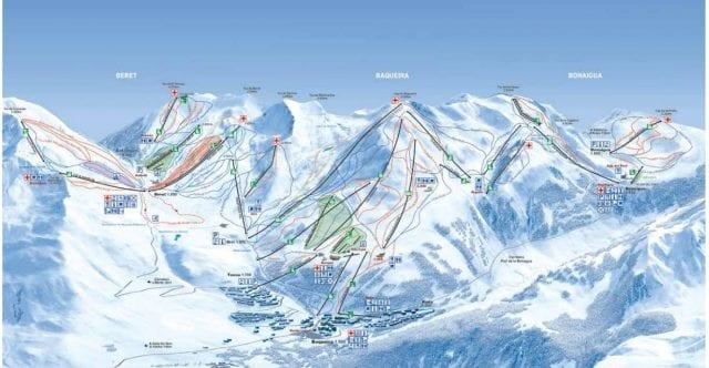 Mapa de pistas de Baqueira