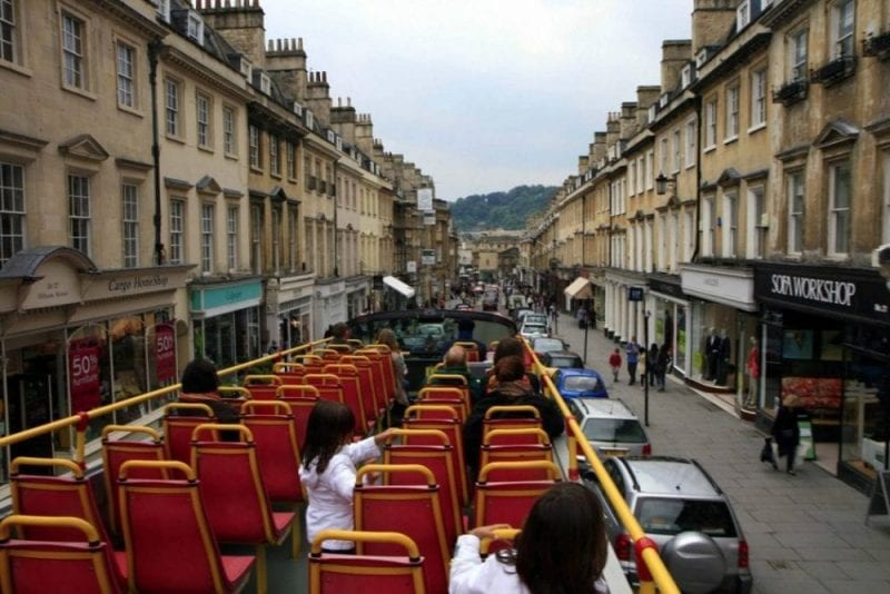 Autobus turístico en Bath