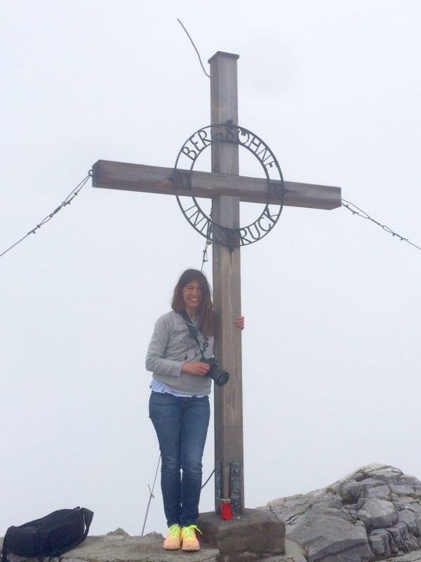 Nani Arenas tras conquistar una cumbre en Innsbruck