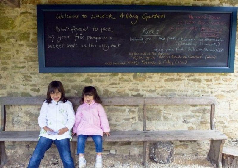 Rincón en el jardín de Lacock