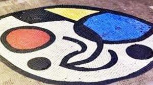 Mosaico de Joan Miró en las Ramblas de Barcelona