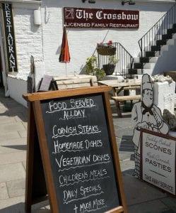 Restaurante con menú infantil en Tintagel