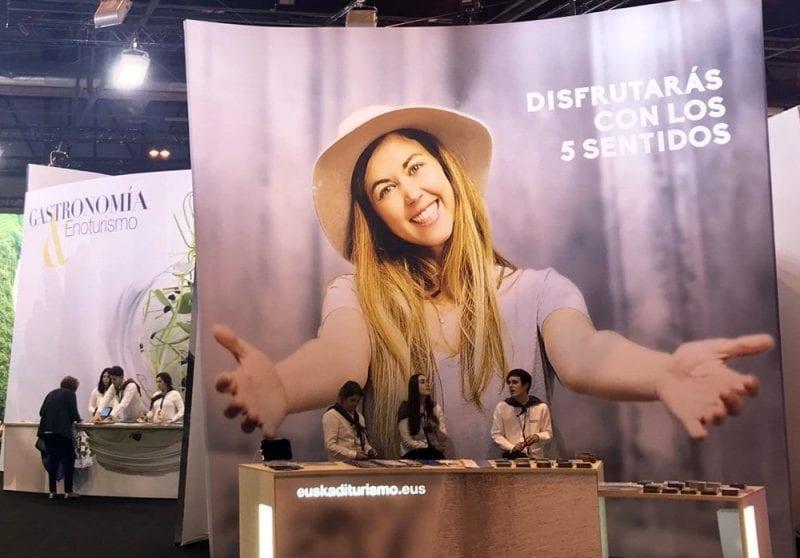 Stand de Euskadi en Fitur 2017, con una apuesta por los sentidos