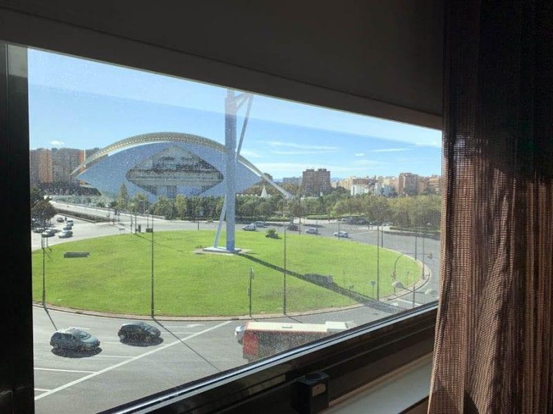 Vistas del palau de las Artes desde la habitación del hotel Barceló