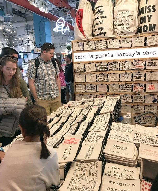 En el Chelsea Market hay tiendas de diseñadores locales