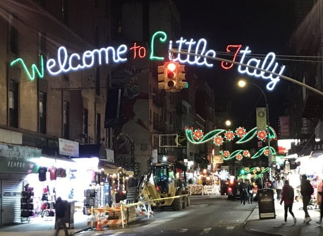 Entrada a Litle Italy en Nueva York