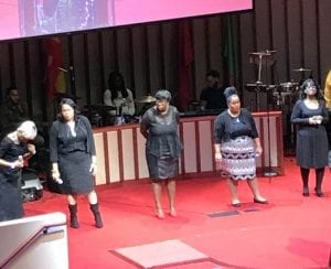 Cantantes en una misa gospel en Harlem