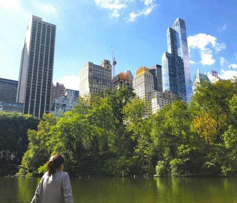 Vistas de Manhattan desde Central Park