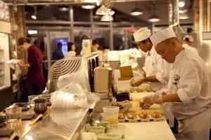 Zona gastronómica del Chelsea market nueva york