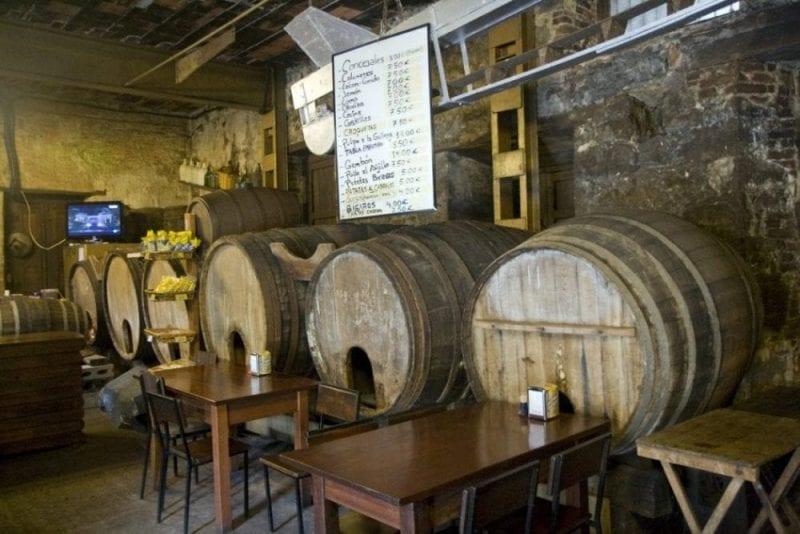 Típico llagar de sidra en Asturias