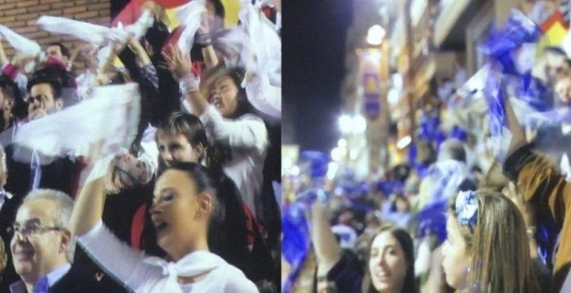Blancos y azules, eternos rivales en Lorca