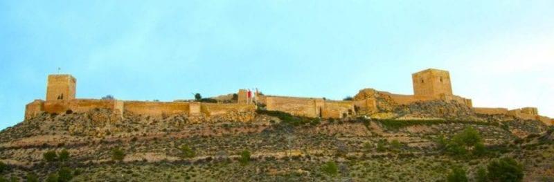 Panorámica del castillo de Lorca