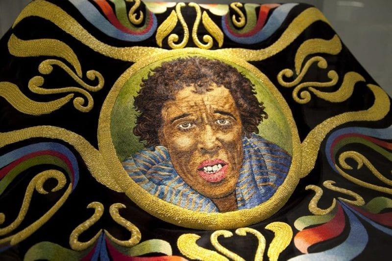 """La """"capeta del Negro"""" es uno de los bordados más valiosos desde el punto de vista artístico"""