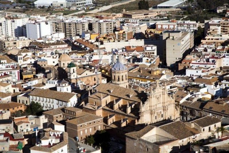 Panorámica de Lorca desde el castillo