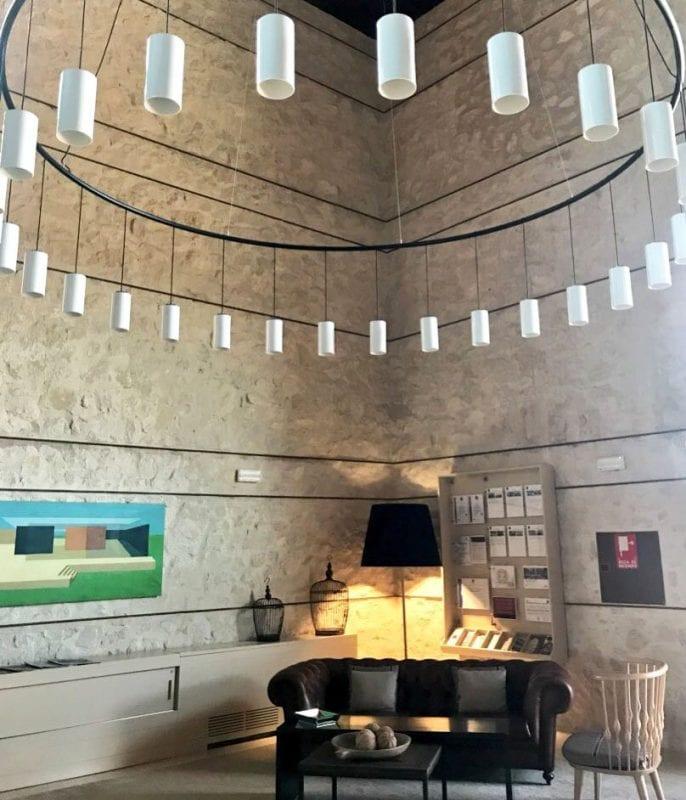 Hall de entrada del parador de Lorca