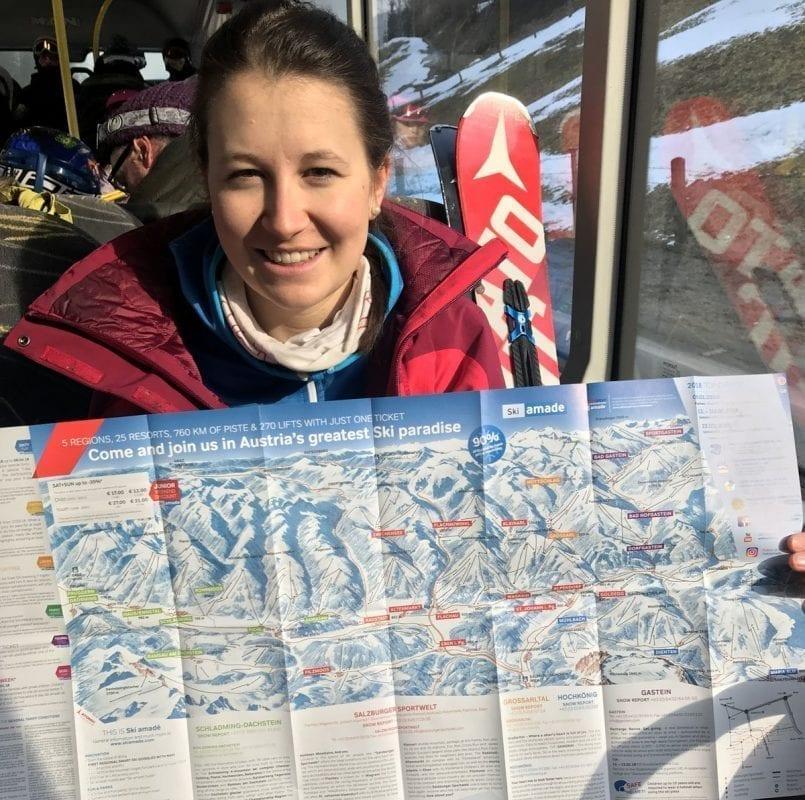 Plano de todo el área esquiable