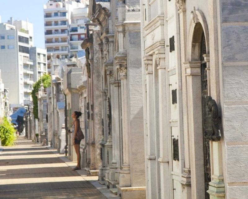 El cementerio de la Recoleta es un monumento para muchos visitantes