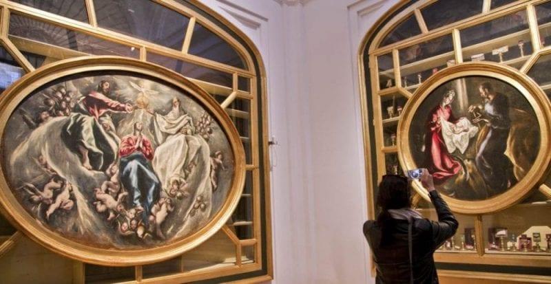 Detalle de la Coronación y la Natividad de El Greco