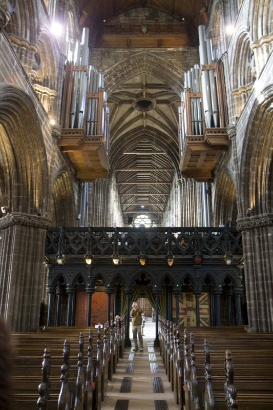 Interior de la catedral de Glasgow