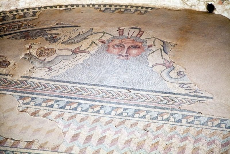Mosaico del Océano en Carranque