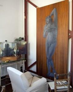 Cuadro en el que trabajaba Dalí cuando murió