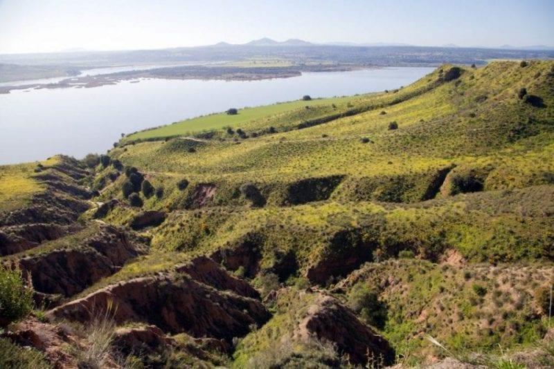 Vista de las Barrancas de Burujón en Toledo