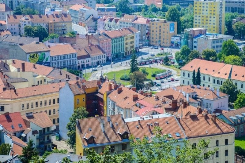 Panorámica del casco histórico de Brno