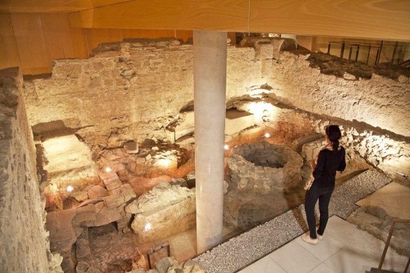 Restos romanos de Caesarobriga en La Domus de Talavera