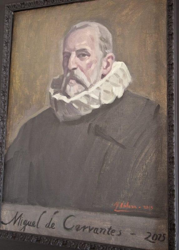 Oleo de Cervantes